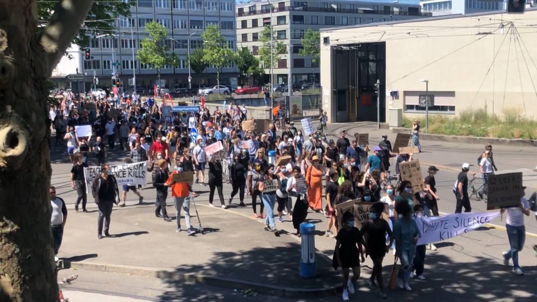 """""""Black Lives Matter"""": Zürcher demonstrieren mit"""