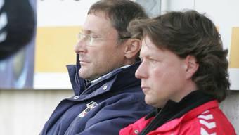 Kennen sich aus Thuner Zeiten: Heinz Peischl und Jeff Saibene