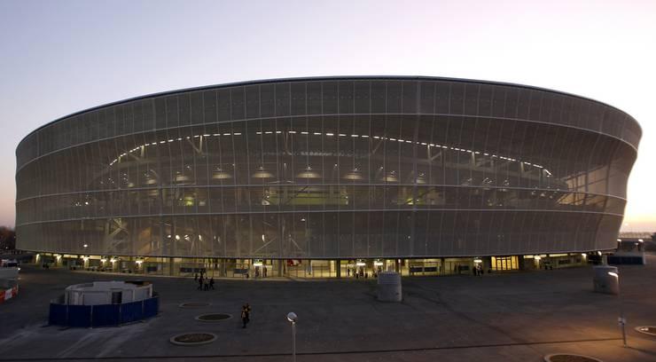 Das pompöse Fussballstadion von Breslau in Polen, gebaut für die EM 2012