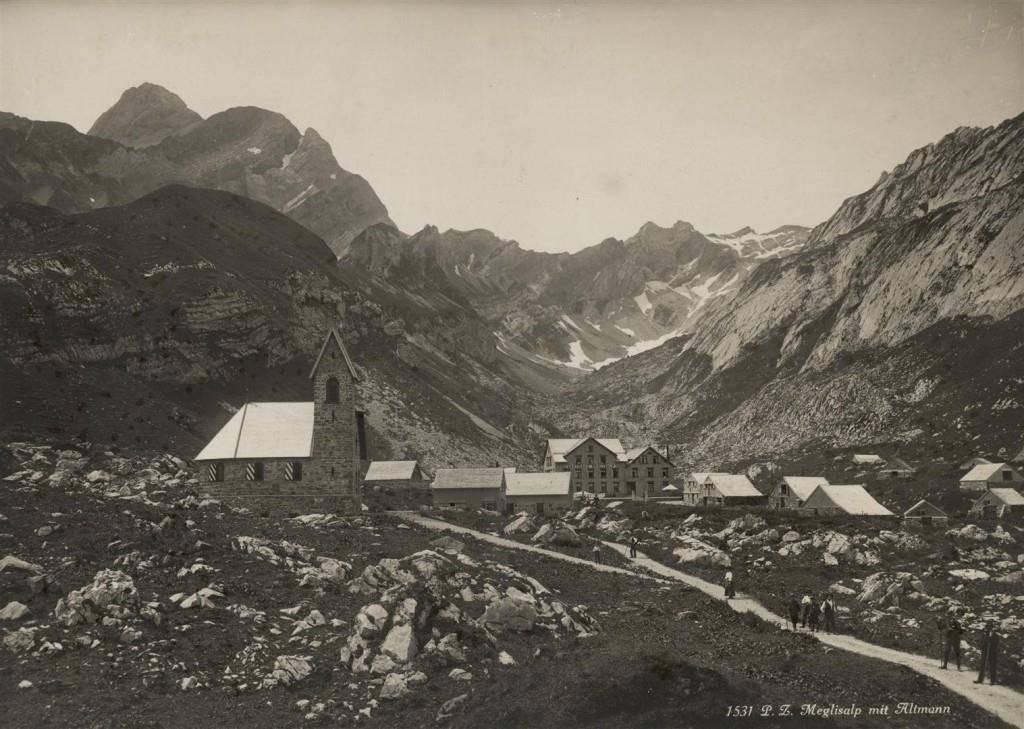 Meglisalp um 1900, damals bekannt als Molkenkur-Anstalt. (© zVg)