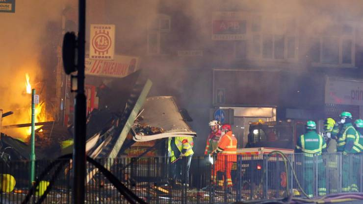 Explosion in Leicester.