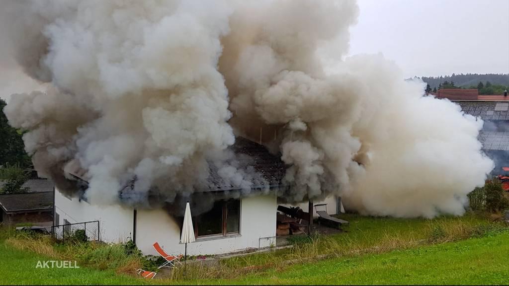 Hausbrand in Baldingen