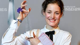 Vicky Krieps ist bei der Verleihung des Deutschen Fernsehpreises als beste Fernsehschauspielerin ausgezeichnet worden.