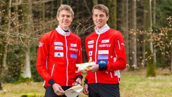 Andreas Kyburz (links) und Matthias Kyburz zàhlen gemeinsam mit ihrem Klubkollegen Dario Metzger (nicht auf dem Bild) zu den Favoriten auf den Titel im Team-OL.