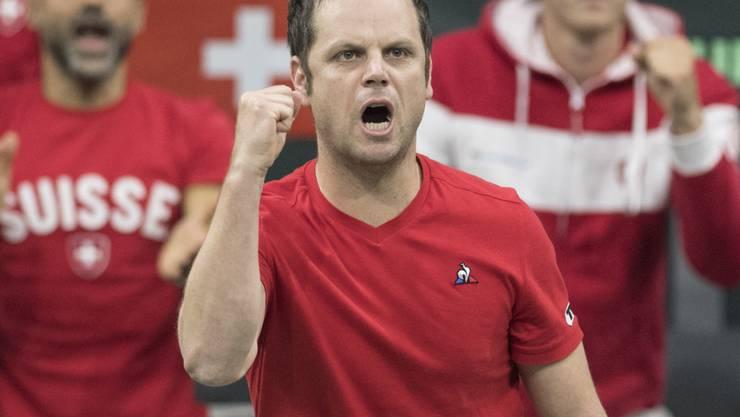 Der Schweizer Davis-Cup-Captain Severin Lüthi steht mit seinem Team erneut vor einer schweren Aufgabe