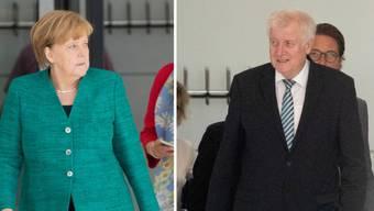 Der Streit zwischen CDU und CSU über die Asylpolitik wurde in der vergangenen Woche immer erbitterter. Jetzt beraten die Führungsgremien beider Parteien darüber. Kommt es zum Showdown zwischen Kanzlerin Merkel und ihrem Innenminister Seehofer? (Archivbild)