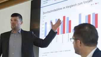 Christoph Vonwiller, Volkswirt bei Fahrländer Partner, kommt nach der Auswertung der Wirtschaftsumfrage zum Schluss, dass die                      Aargauer Industrie «widerstandsfähig und robust» sei.