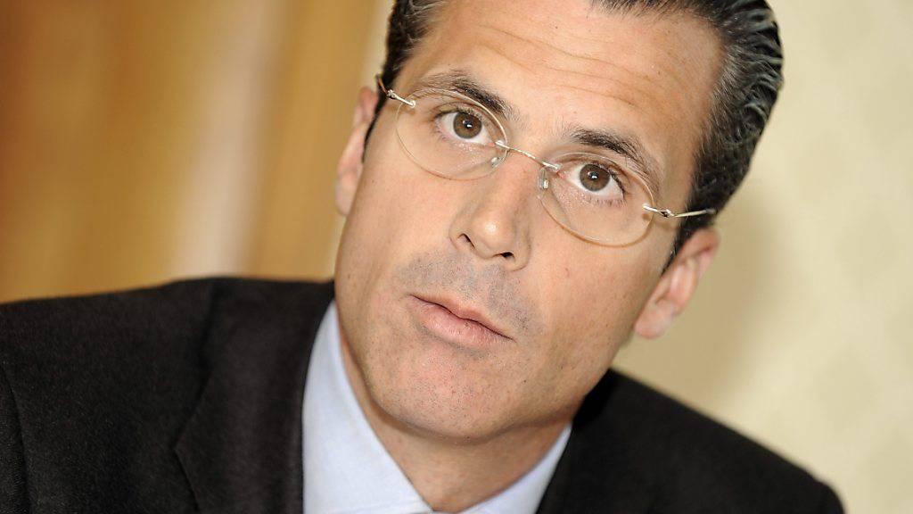 Philippe Gaydoul in einer Aufnahme vom Oktober 2009: Der Unternehmer bezeichnet Aussagen, wonach der Frankenschock überwunden ist, als «Schönfärberei». (Archivbild)