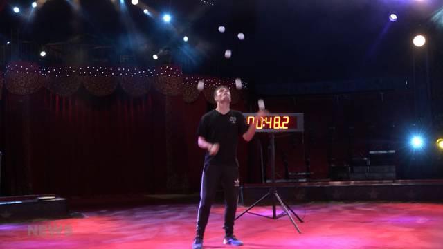 Weltrekordversuch beim Zirkus Knie