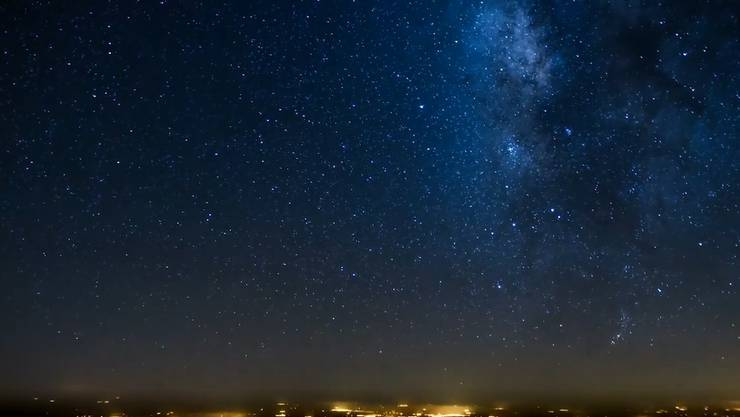 Der nächtliche himmel über Nordafrika.