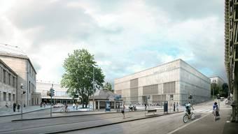 So würde die Erweiterung von Architekt David Chipperfield dereinst aussehen.