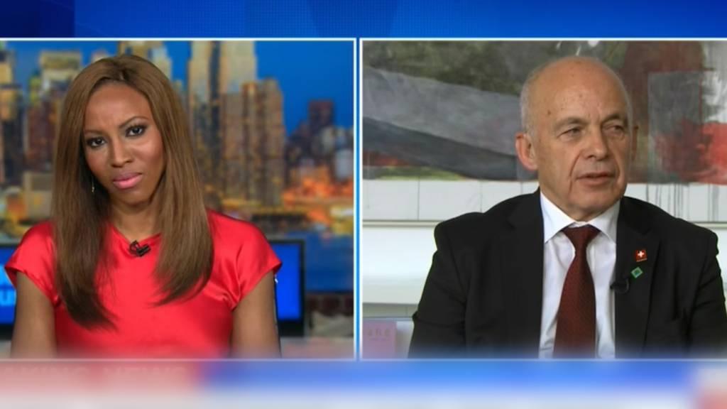 Bundespräsident Maurer im CNN-Interview