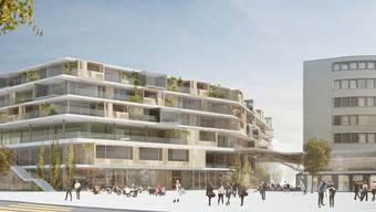 Visualisierung des Projekts Sälipark 2020 von der Giroud Olma AG.