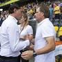 Teilen sich die Punkte: YB-Meistertrainer Gerardo Seoane und Servette-Aufsteiger Alain Geiger
