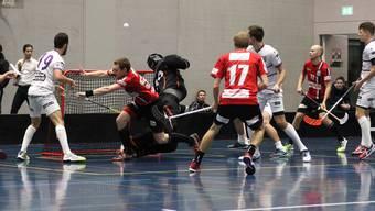Impressionen vom NLB-Spitzenkampf Unihockey Basel Regio - Floorball Thurgau