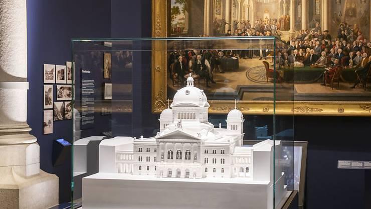 """Die neue Dauerausstellung """"Geschichte Schweiz"""" im Landesmuseum Zürich zeigt das Bundeshaus im Modell."""