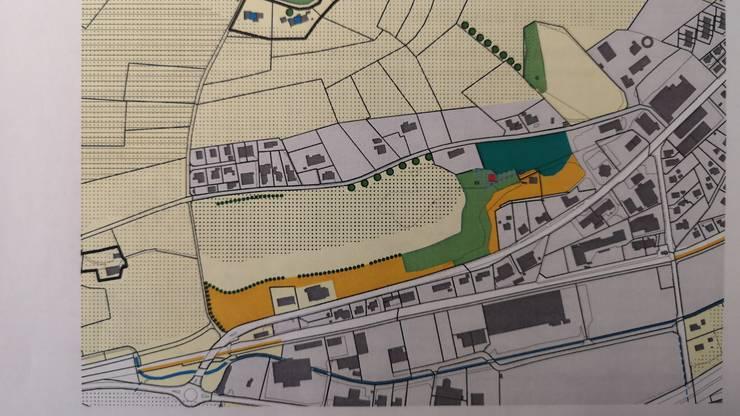 Der Kanton möchte das SMDK-Areal primär landwirtschaftlich nutzen (hellgelb). Dunkelgelb sind die Magerwiesen.