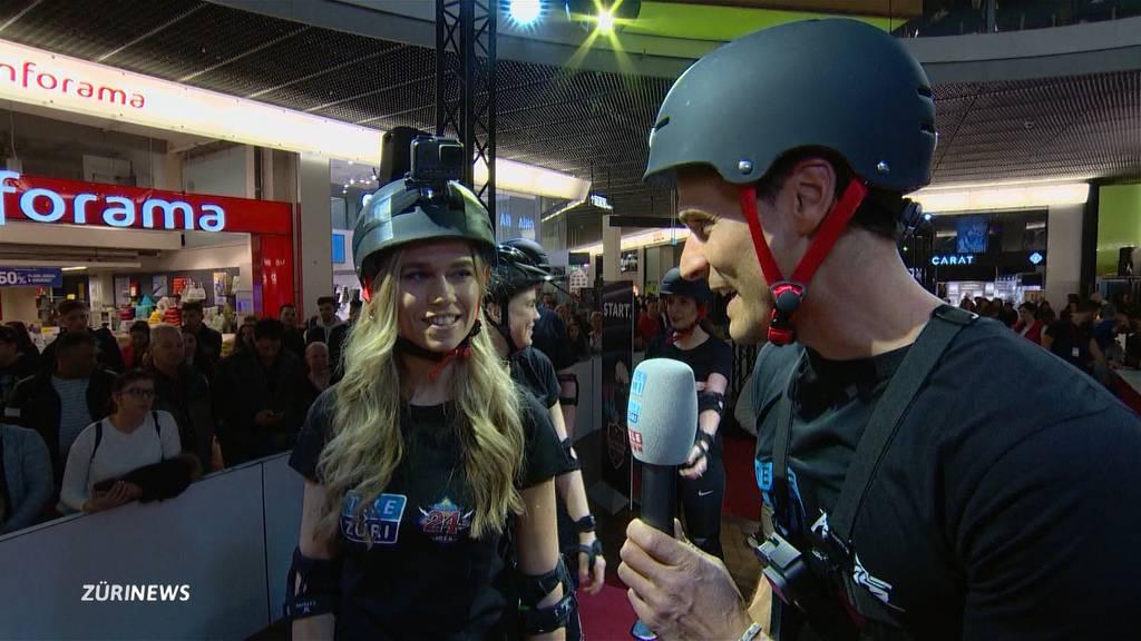 TeleZüri vs. Tele M1: Die Rolltreppen-Challenge