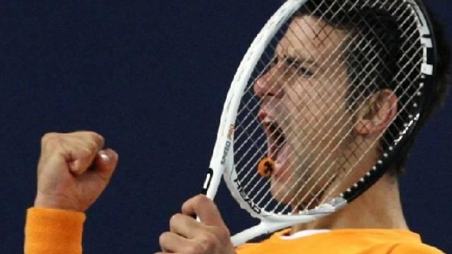 Der Serbe Novak Djokovic setzte sich gegen den Kroaten Marin Cilic durch