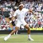Roger Federer gewann seine 185. Einzel-Partie auf Rasen, die 99. in Wimbledon