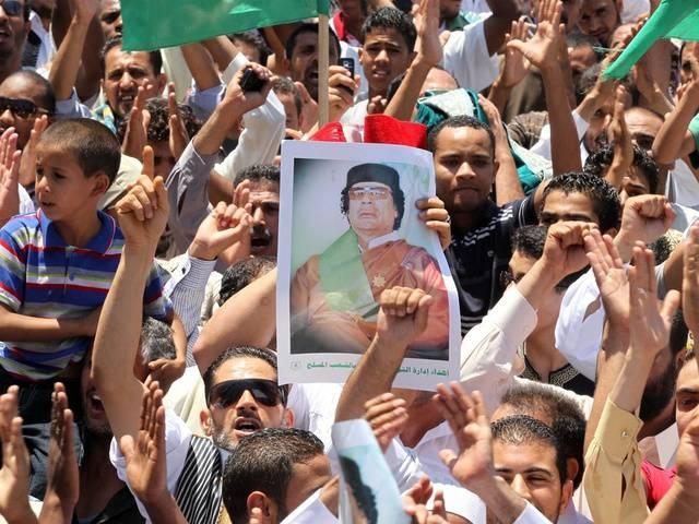 Mit einer Rede wollte Gaddafi am Freitag die Demonstrierenden zum Kampf motivieren