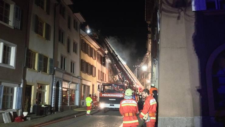 Brand in der Laufenburger Altstadt.