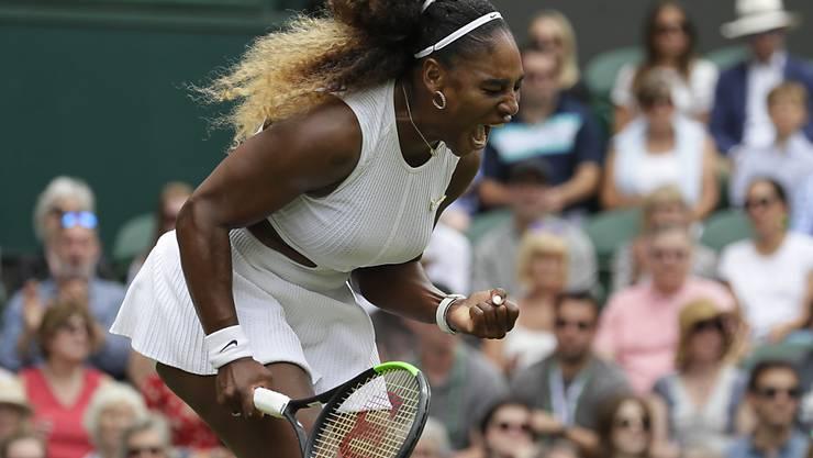 Serena Williams strebt in Wimbledon die Egalisierung des Rekords von Margaret Court von 24 Grand-Slam-Titeln an