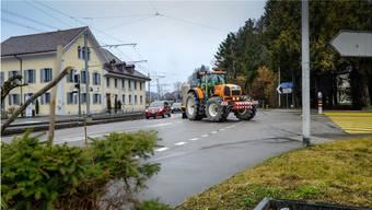 Der Knoten Wynentalstrasse-Dorfstrasse