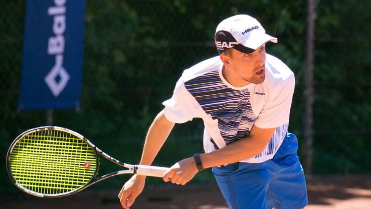 Oltner Tennismeisterschaft im Gheid in Olten: David Pfaff, Dulliken.