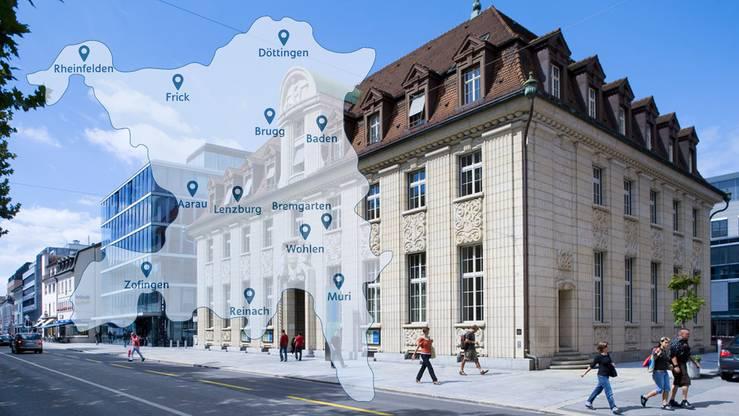Welche zwölf NAB-Filialen im Aargau erhalten bleiben – und welche Standorte die CS schliesst