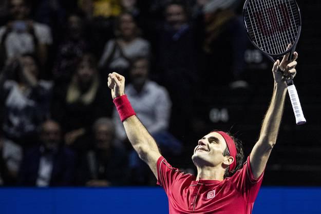 Mit 10 Titeln ist Roger Federer Rekordsieger der Swiss Indoors.