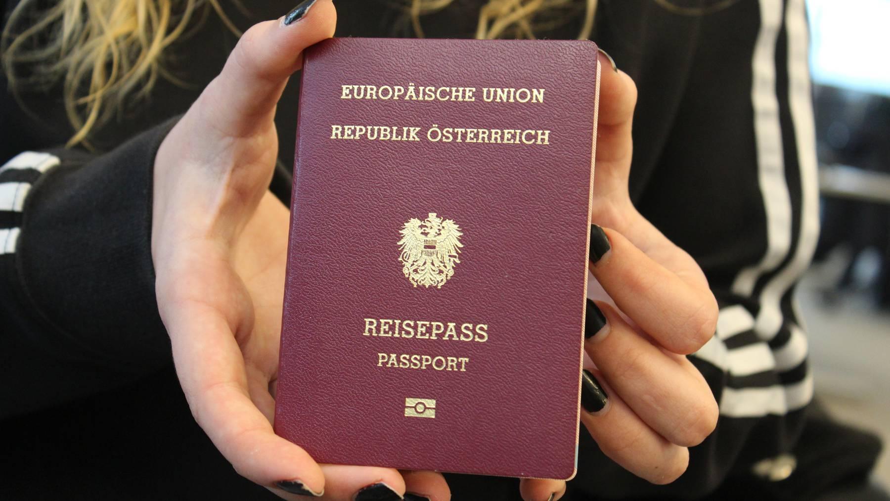 Pass noch gültig? Jeder 6.Österreicher muss 2020 den Pass erneuern.
