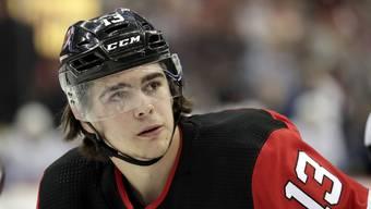 Auf dem Weg zum NHL-Star: New-Jersey-Devils-Center Nico Hischier (19).