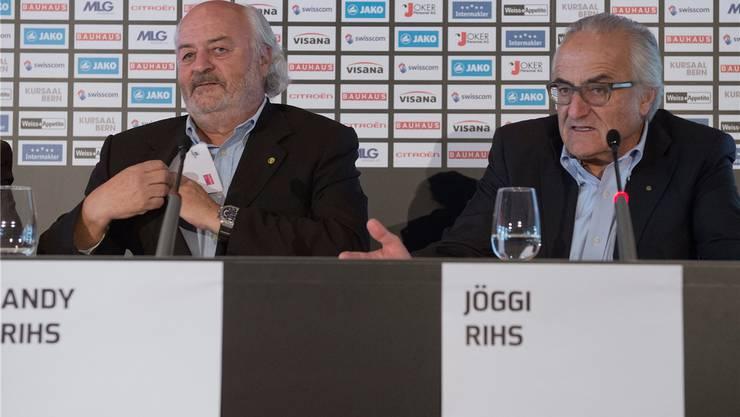 Montag: Die YB-Besitzer Andy (links) und Hansueli Rihs werden vor die Presse treten.