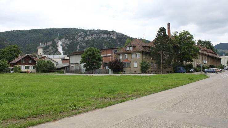 Dieses Grundstück der Swiss Quality Paper Balsthal wurde in die Bauzone gesetzt. Es war Teil des Sozialplanes von 2011.