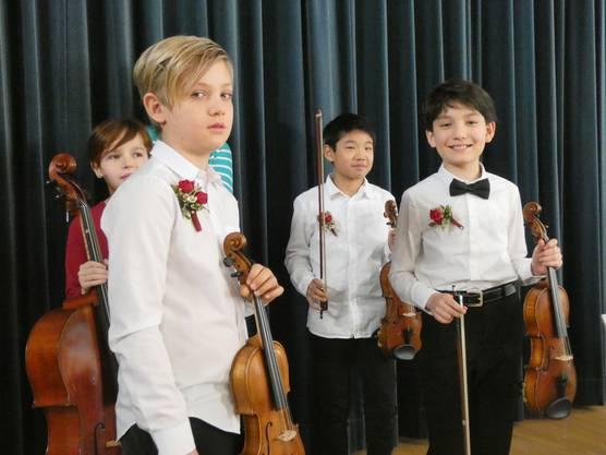 Der21. musikalischer Förderwettbewerb Prix Rotary fand im Chapf Schulhaus in Windisch statt.JALO-Quartett. 1. Preis Kategorie Ensemble.