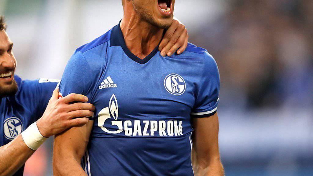 Franco di Santo brachte mit seinem verwandelten Foulpenalty Schalke auf die Siegesstrasse
