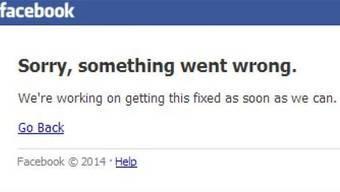 Facebook war minutenlang nicht erreichbar.