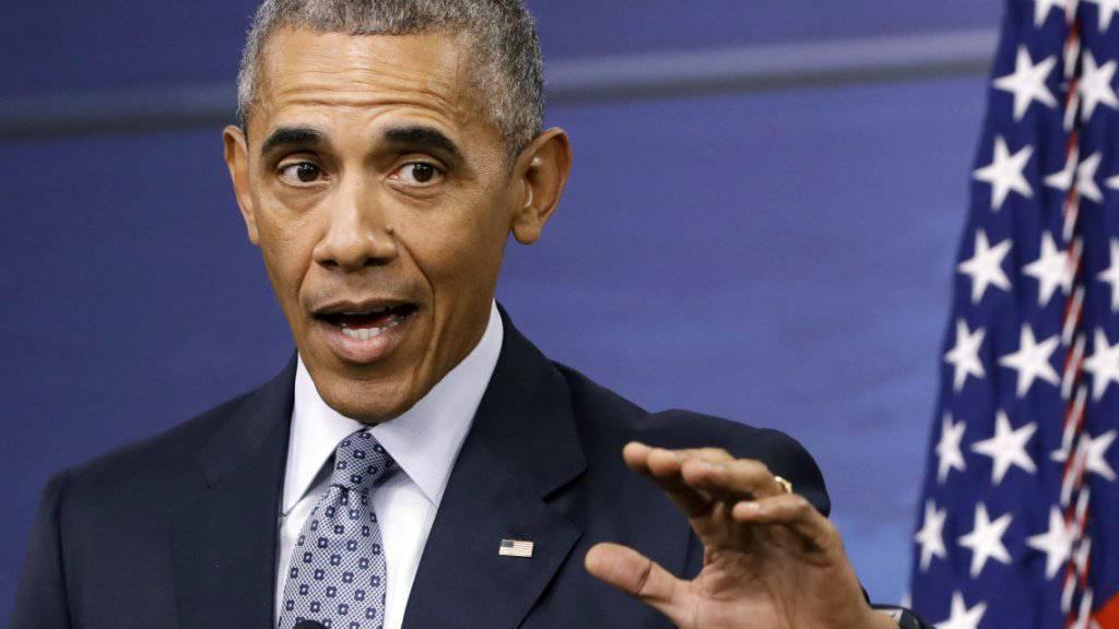 Hat gute Neuigkeiten für 111 Häftlinge: US-Präsident Obama gibt sich zum Abschied hin milde. (Archivbild)