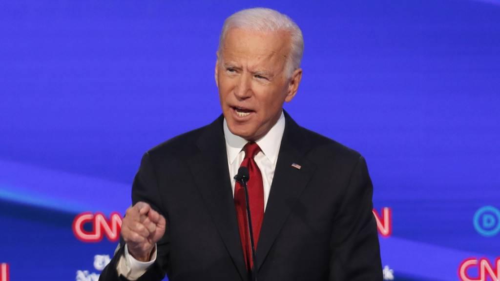 """""""Der korrupteste Präsident in der Geschichte des Landes"""": Der demokratische Präsidentschaftsbewerber und frühere Vizepräsident Joe Biden bei der TV-Debatte in Ohio über Amtsinhaber Donald Trump."""