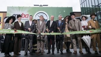 Ein Bild aus vergangenen Zeiten: Bundesrat Alain Berset eröffnet mit Ex-Stadtpräsident Guy Morin (l.) und MCH-Verwaltungsrat Ulrich Vischer (r.) die Muba 2016.