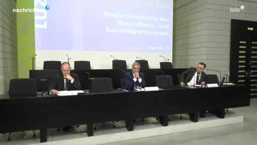 Medienkonferenz Kanton Luzern