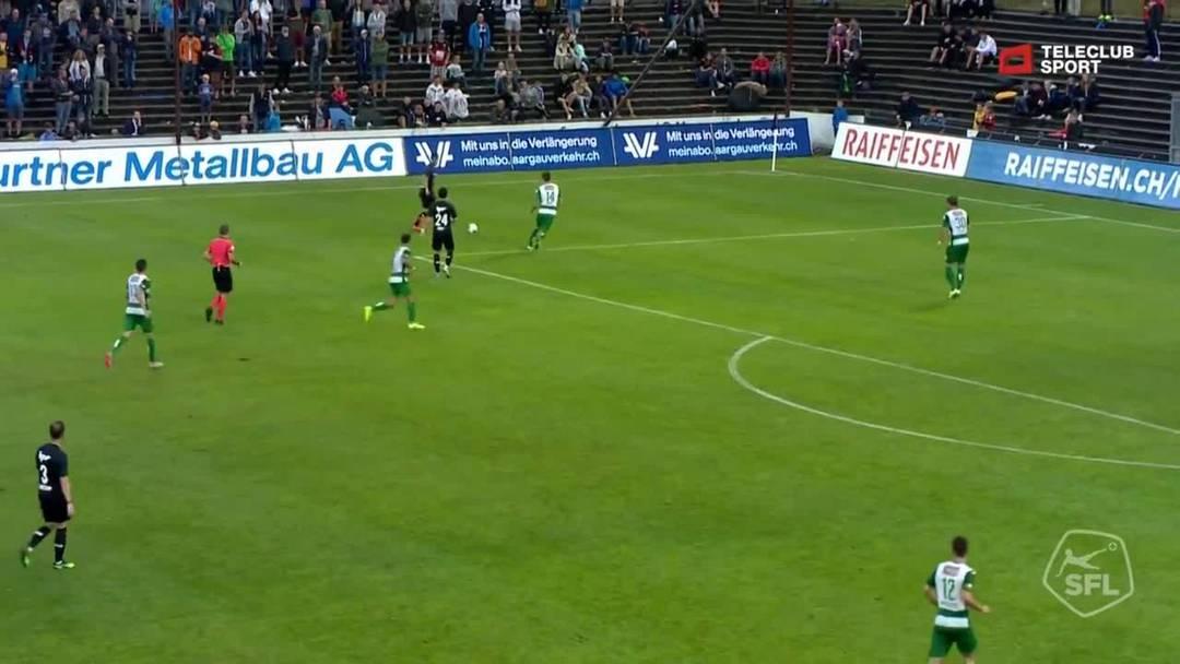 Challenge League 19/20 Runde 2: FC Aarau - SC Kriens 27.7.19 - 2:0 FC Aarau Markus Neumayr (Assist: Gezim Pepsi)