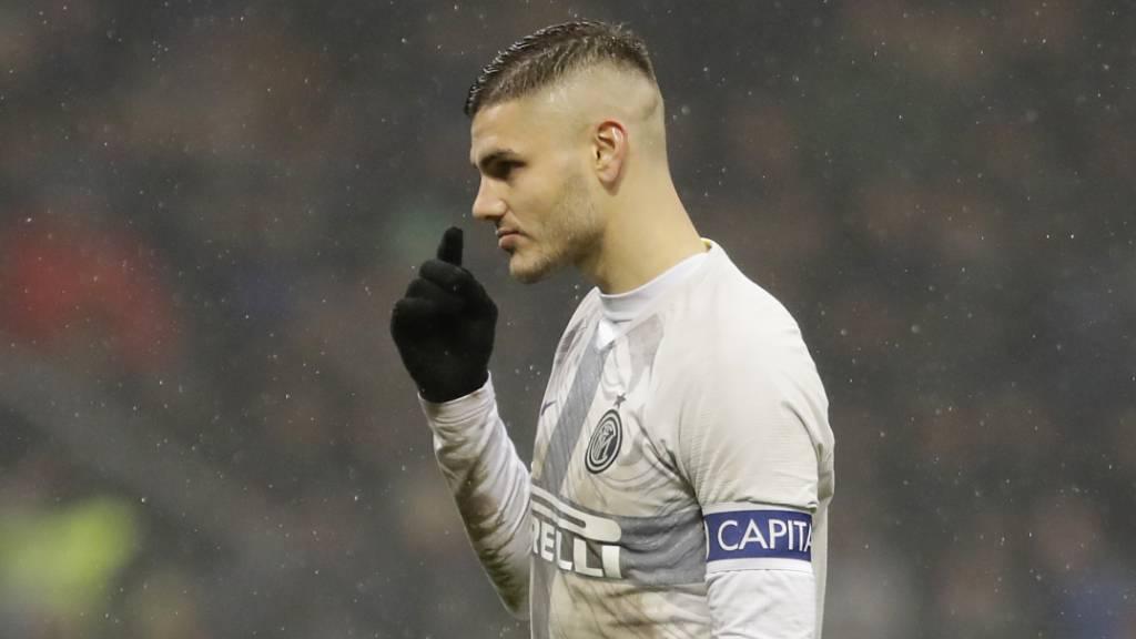 Mauro Icardi war noch im Januar Captain von Inter