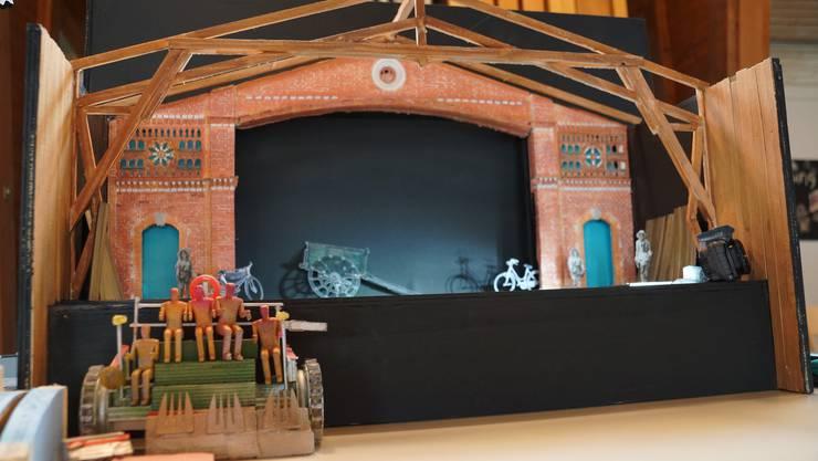 Das Modell des Bühnenbildes zur Sommeroper Selzach 2016 «l'elisir d'amore»