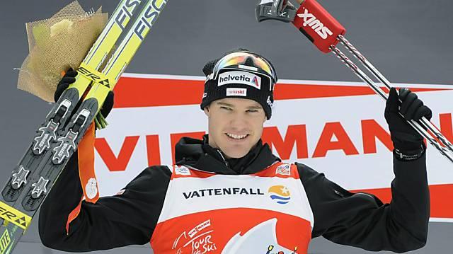Dario Cologna gewann auf diesem Bild zum 2. Mal die Tour de Ski