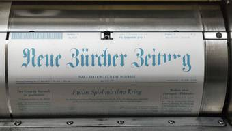 Die Neue Zürcher Zeitung im Druck (Symbolbild).