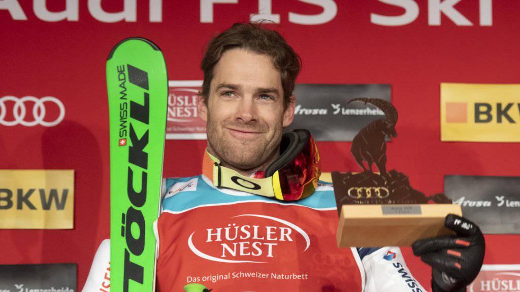 Nur wenige Minuten nach Fanny Smith zieht Jonas Lenherr für das Schweizer Männer-Team nach