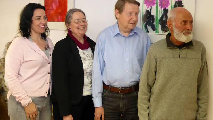 Der Vorstand des Bewohnervereins Altstadt Laufenburg: v.l. Karin Bäuerle, Edita Soldati, Kurt Brandenberger, Leo Balmer.