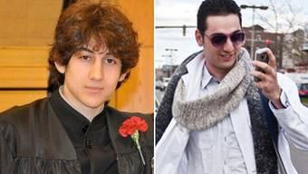 Dschochar Zarnajew (l.) ist auf der Flucht. Sein Bruder Tamerlan ist tot.